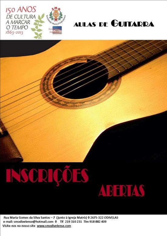 Cartaz Aulas de Guitarra 2016