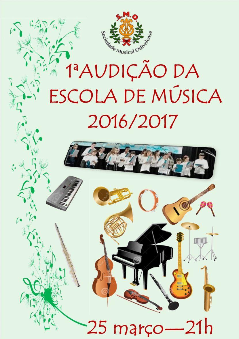 Cartaz Audição Escola de Música 2017