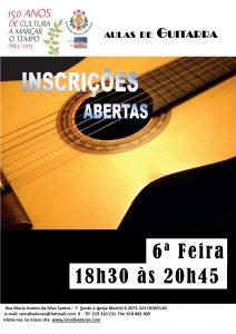 Cartaz Aulas de Guitarra