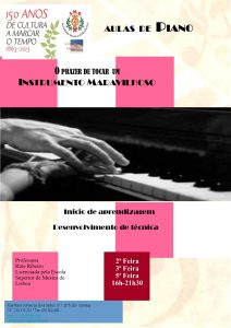 Cartaz Aulas Piano