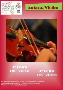 Cartaz Aulas Violino