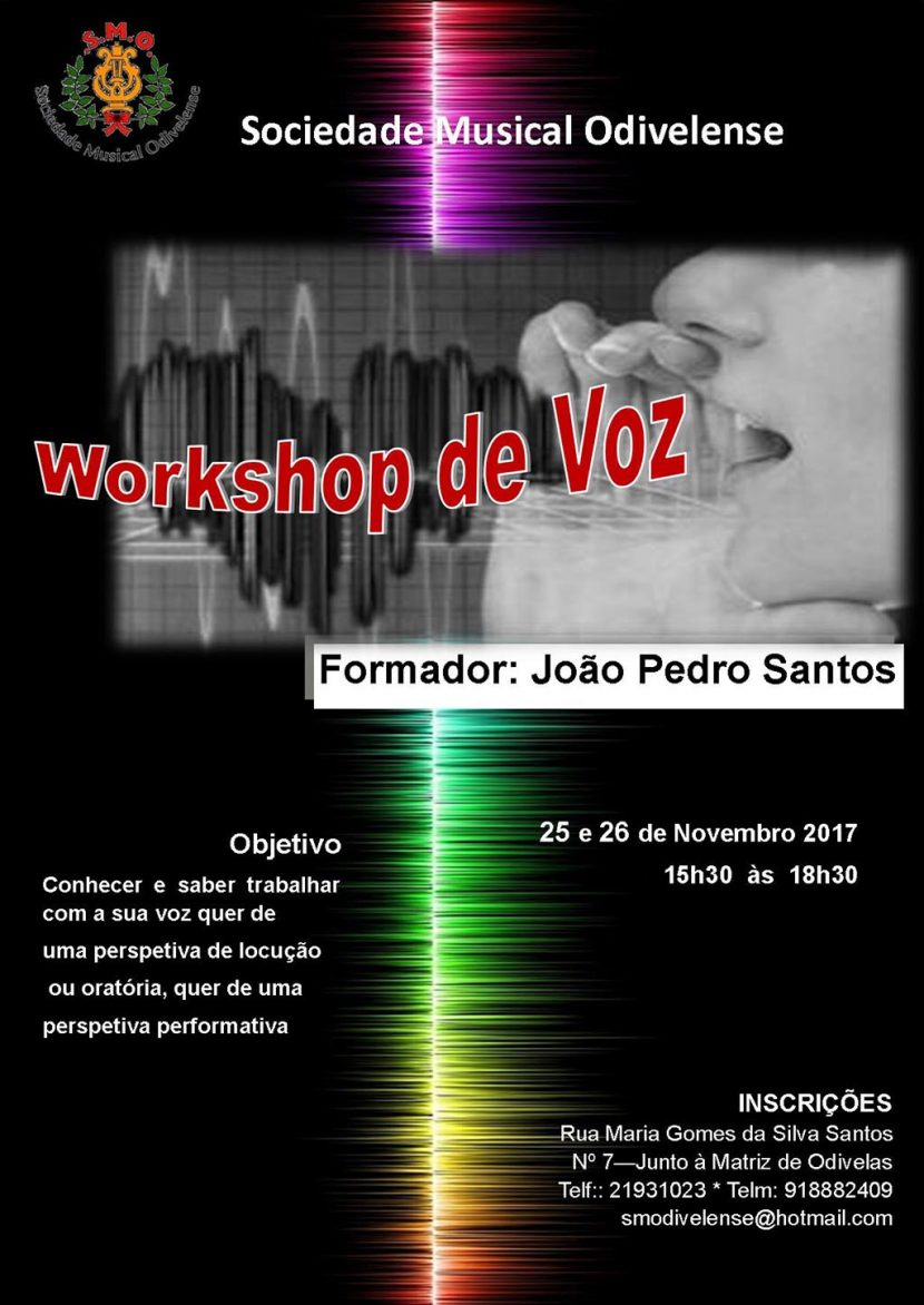 Workshop de Voz - 25 e 26 de Novembro