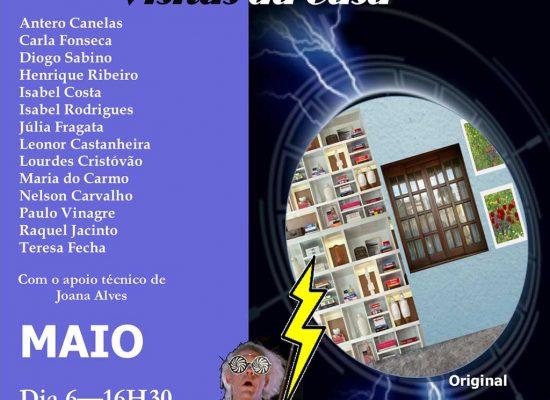 Cartaz Teatro Maio 2018 Visitas da Casa