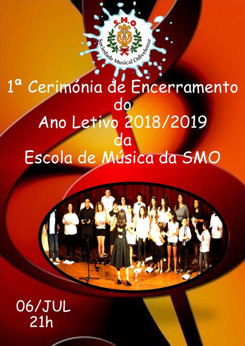 Cartaz 1ª Cerimonia Encerramento Ano Lectivo 2018/2019