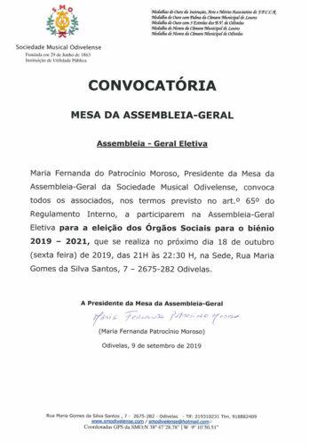 Convocatoria 2019/2021