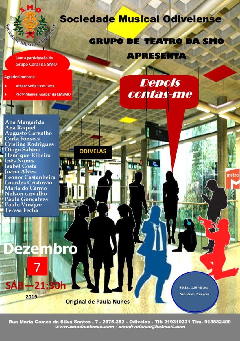 Cartaz Teatro Dezembro 2019 Depois Contas-me