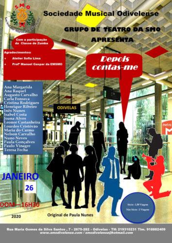 Cartaz Teatro Janeiro 2020 Depois Contas-me