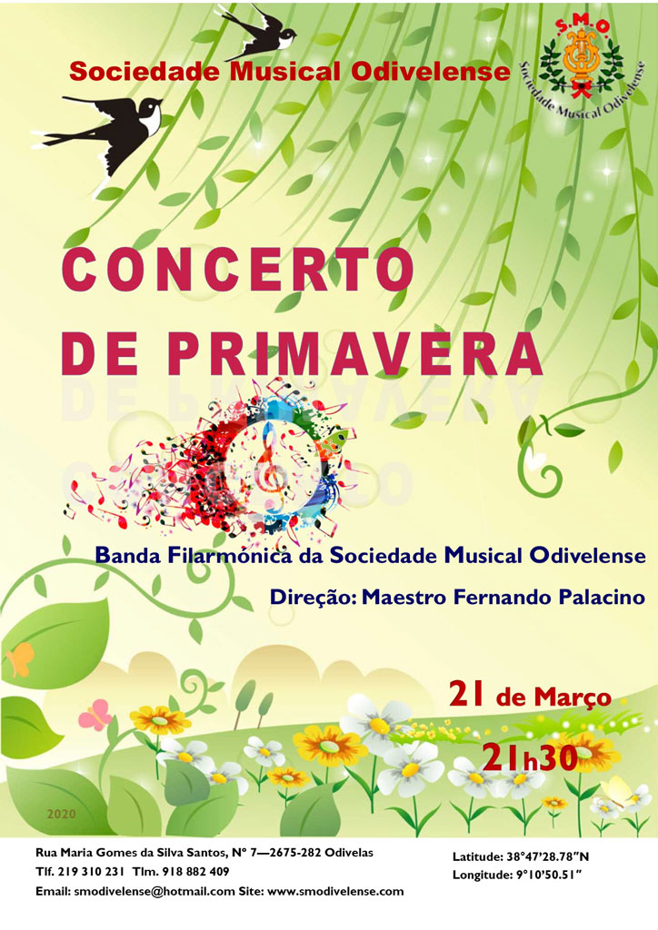 Cartaz Concerto Primavera 2020