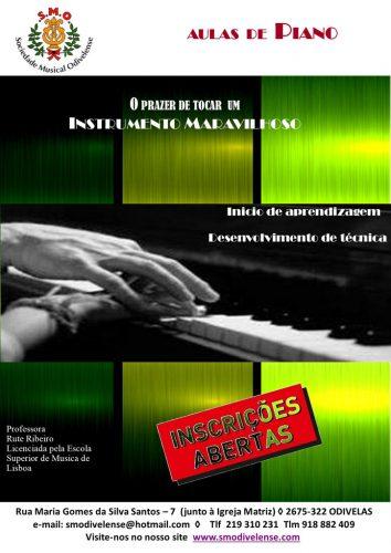 2021 Inscrições Aulas de Piano